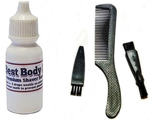 Shaver Oil + Cleaning Brushes