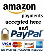 Secure credit card payments by Amazon and PayPal accepted here