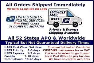 Free USA and APO shipping